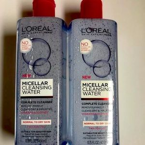 L'Oreal Cleansing Water NormaltoDry Skin 400ml x2